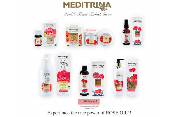 Meditrina Natural Rose Oil Range Products